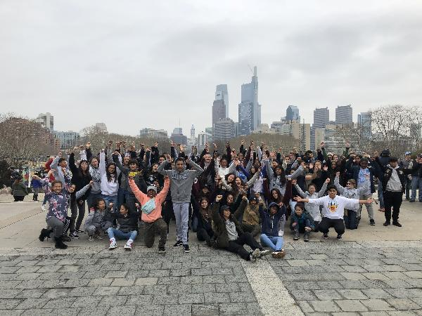 Rocky Steps and the Philadelphia Skyline