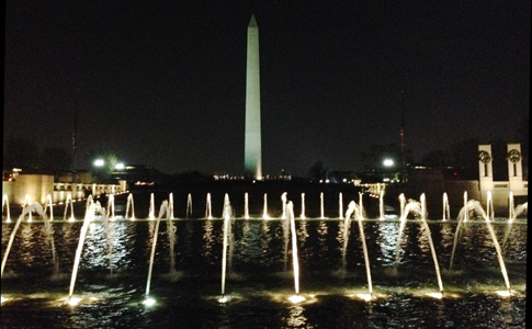 The Washington Monument as seen from the World War II Memorial