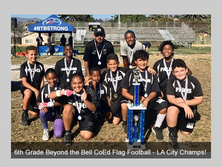 Beyond the Bell flag football team