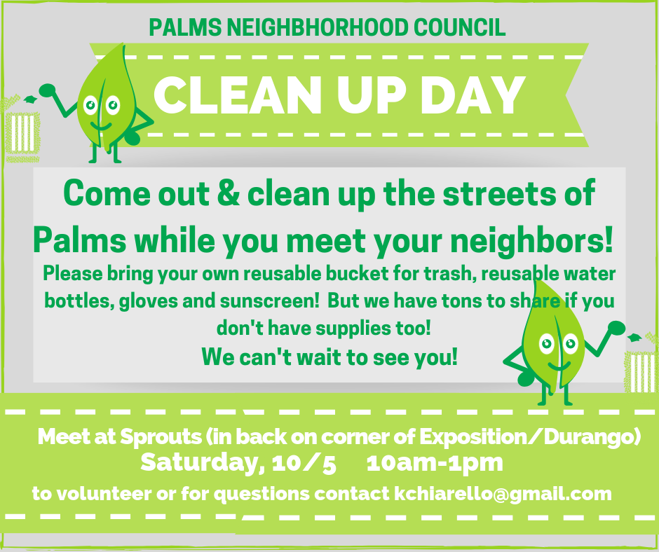 Palms Neighborhood Clean Up Day