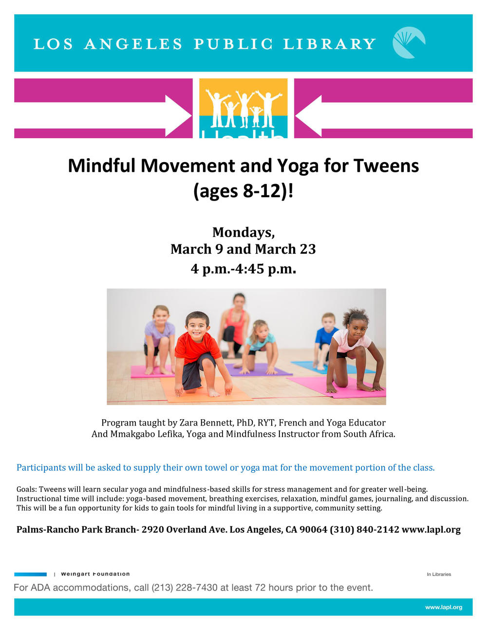 Mindfull Movement and Yoga for Tweens