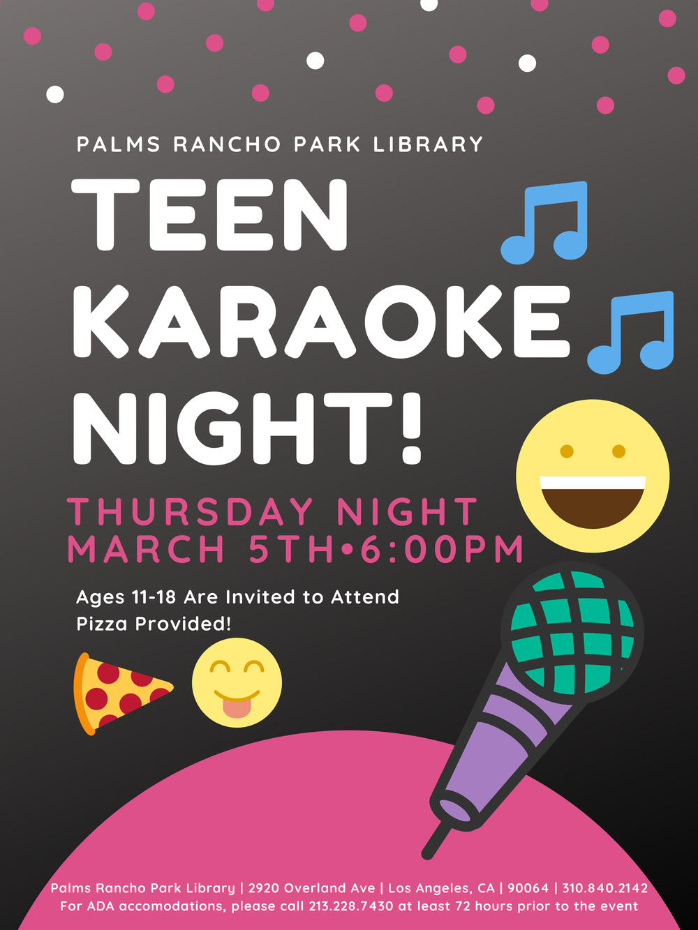 Teen Karaoke Night!