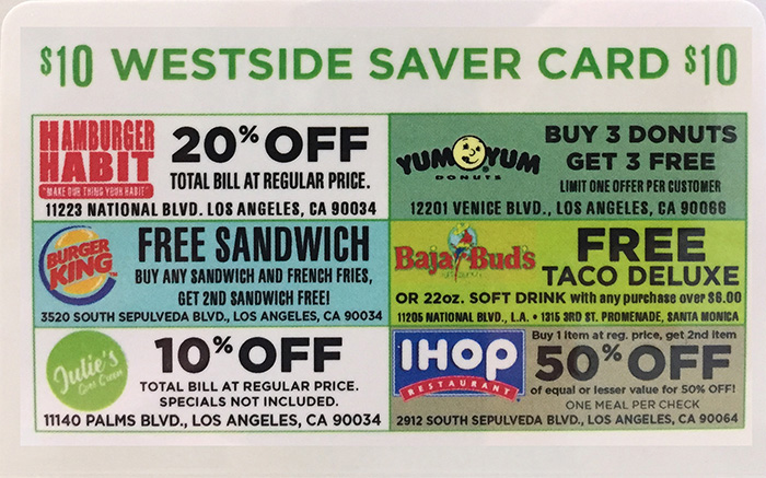 Westside Saver Card side 2