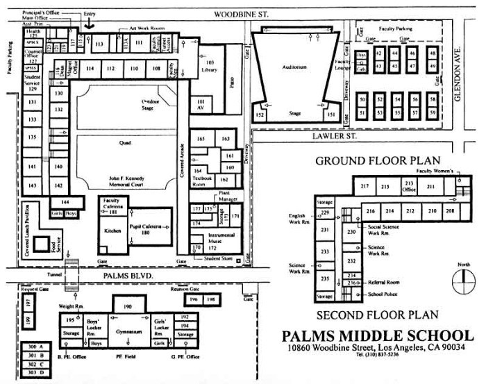 map of Palms Middle School