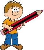 boy with pencil clipart, courtesy of clipart.edigg.com