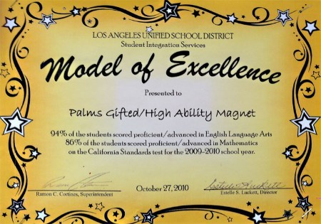 Model of Excellence Award