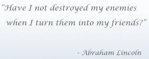 quote from Abraham Lincoln