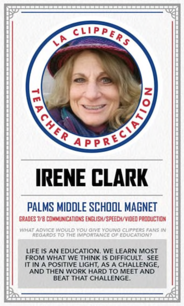 Irene Clark Teacher Appreciation