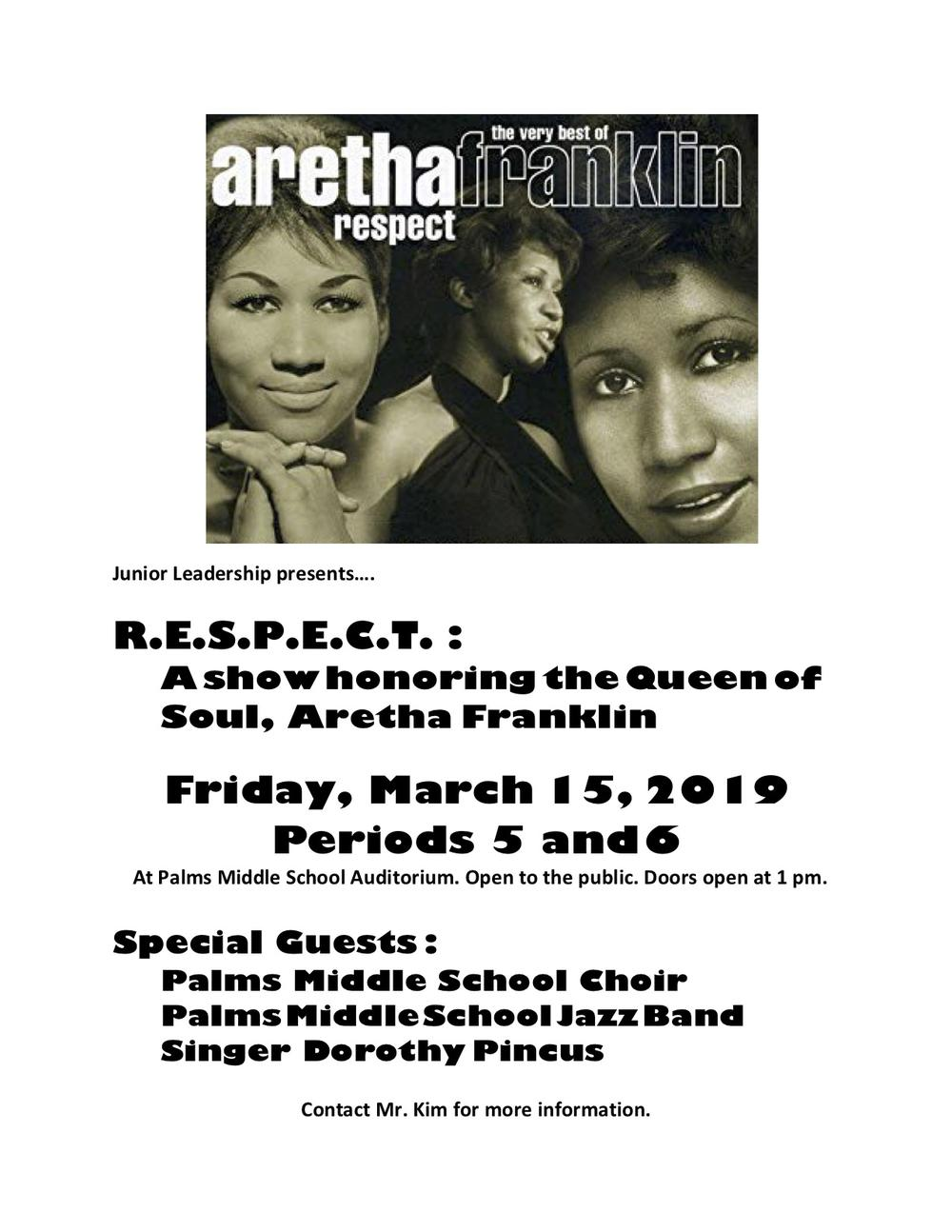 RESPECT  A Show Honoring Aretha Franklin