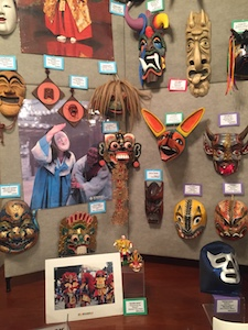 Connecting Cultures mask exhibit