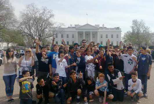 Eighth Graders at the White House