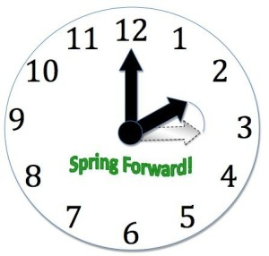 spring forward for daylight savings time