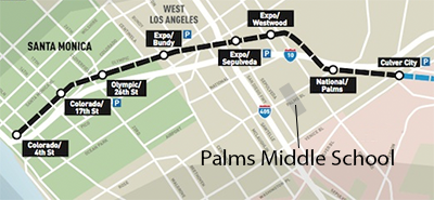 Metro Expo line extension route