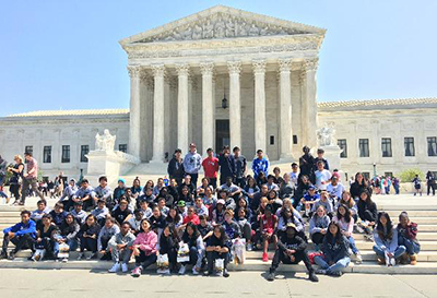 eighth graders at the Supreme Court
