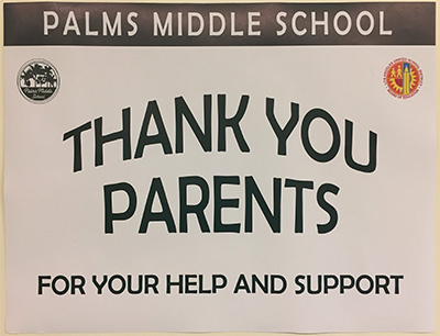 Thank You Parents poster