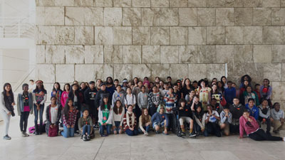 Palms students at the Getty Center